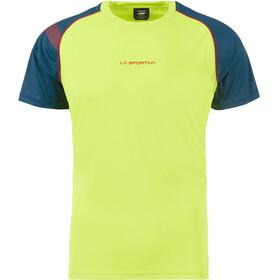 La Sportiva Motion Hardloopshirt korte mouwen Heren groen/blauw